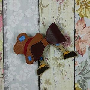 Scarecrow hair bow